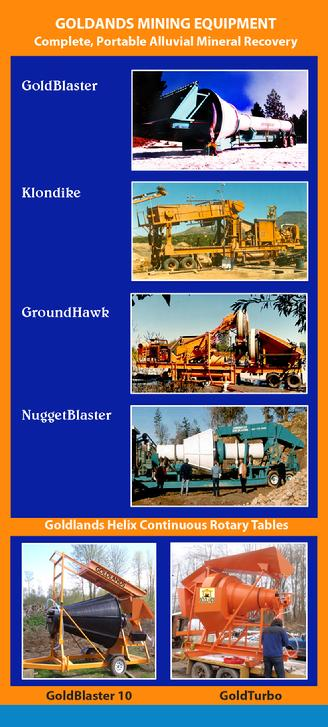 Trommels, Helicoids, Complete Wash Plants, Gold Mining Systems
